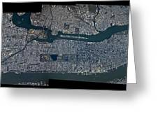 Manhattan - 2012 From Space Greeting Card by Celestial Images