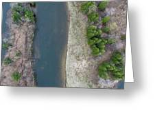 Manistee River Aerial Panorama Greeting Card