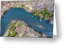 Manistee River From Above Greeting Card