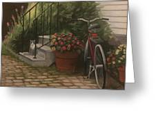 Marblehead Porch Greeting Card