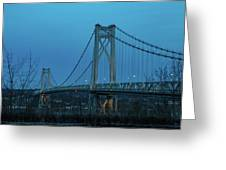March Evening At Mid-hudson Bridge 2019 Greeting Card