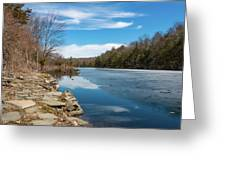 March Morning At Sanctuary Pond Greeting Card