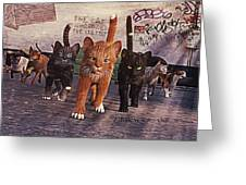 March Of The Mau Greeting Card