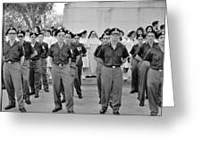 Marchers And Convent Members Greeting Card