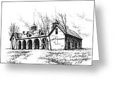 Marcus Daly Tammany Barn Hamilton Montana Greeting Card