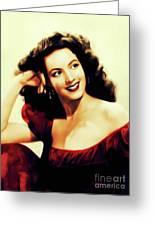 Maria Felix, Vintage Actress Greeting Card