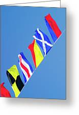 Maritime Signal Flags Greeting Card