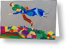 Mark And Bella Chagall Above The City Greeting Card