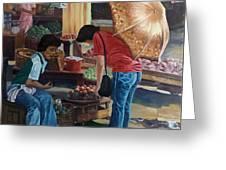 Market Scene Divisoria Greeting Card