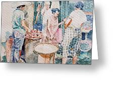 Market Scene  Greeting Card