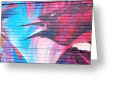 Maroon Blackbird Greeting Card