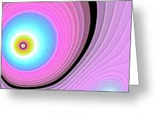 Massive Hurricane Pink Greeting Card by Don Northup