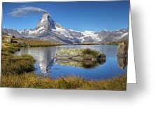 Matterhorn From Lake Stelliesee 07, Switzerland Greeting Card