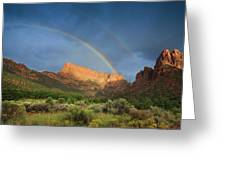 Maxwell Canyon Rainbow Greeting Card