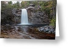 May Evening At Awosting Falls I Greeting Card