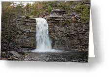May Evening At Awosting Falls II Greeting Card