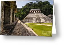 Mayan Ruins In Palenque, Chiapas Greeting Card