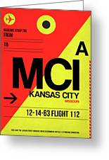 Mci Kansas City Luggage Tag I Greeting Card