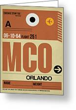 Mco Orlando Luggage Tag I Greeting Card