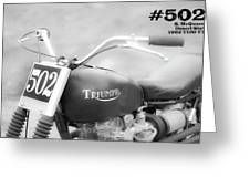 Mcqueens Desert Sled Number 502 Greeting Card