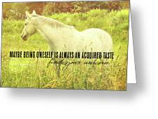 Meadow Gray Quote Greeting Card by Dressage Design