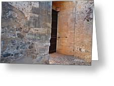 Medieval Castle Entrance In Algarve Greeting Card
