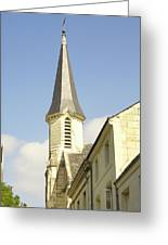 medieval church spire in France Greeting Card