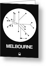 Melbourne White Subway Map Greeting Card