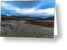 Meltwater Valley On Svalbard Greeting Card