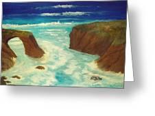 Mendocino Waves Greeting Card