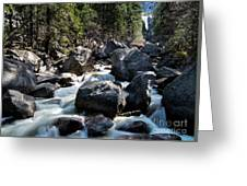 Merced River And Vernal Fall, Yosemite National Park Greeting Card