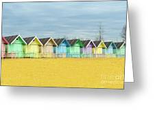 Mersea Island Beach Huts, Image 1 Greeting Card