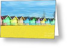 Mersea Island Beach Huts, Image 2 Greeting Card