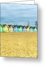 Mersea Island Beach Huts, Image 4 Greeting Card