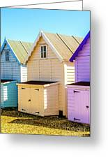 Mersea Island Beach Huts, Image 6 Greeting Card