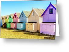 Mersea Island Beach Huts, Image 9 Greeting Card