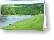 Mertoun Salmon Beat On River Tweed Greeting Card