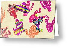 Mexican Mural Greeting Card