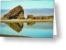 Meyers Beach Reflections - Oregon  Greeting Card