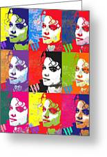 Michael Jackson Andy Warhol Style Greeting Card