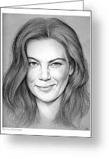Michelle Monaghan Greeting Card