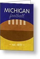 Michigan Football Minimalist Retro Sports Poster Series 001 Greeting Card
