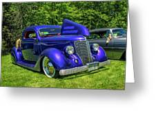 Mild Customs 1936 Ford And 1953 Chevy Greeting Card