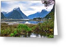 Milford Sound - New Zealand Greeting Card
