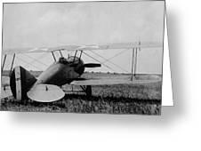 Military Biplane - Marine Flying Field - 1918 Greeting Card