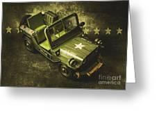 Military Green Greeting Card