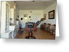 Milner Barbershop - Allensworth State Park Greeting Card