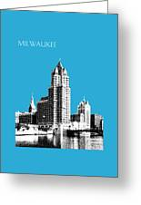 Milwaukee Skyline - 4 - Coral Greeting Card