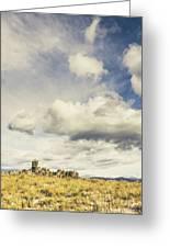 Minimal Mountaintop Meadow Greeting Card
