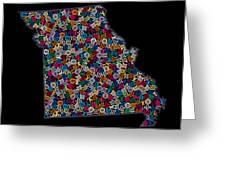 Missouri Map - 2 Greeting Card